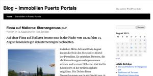 Blog Immobilien auf Mallorca